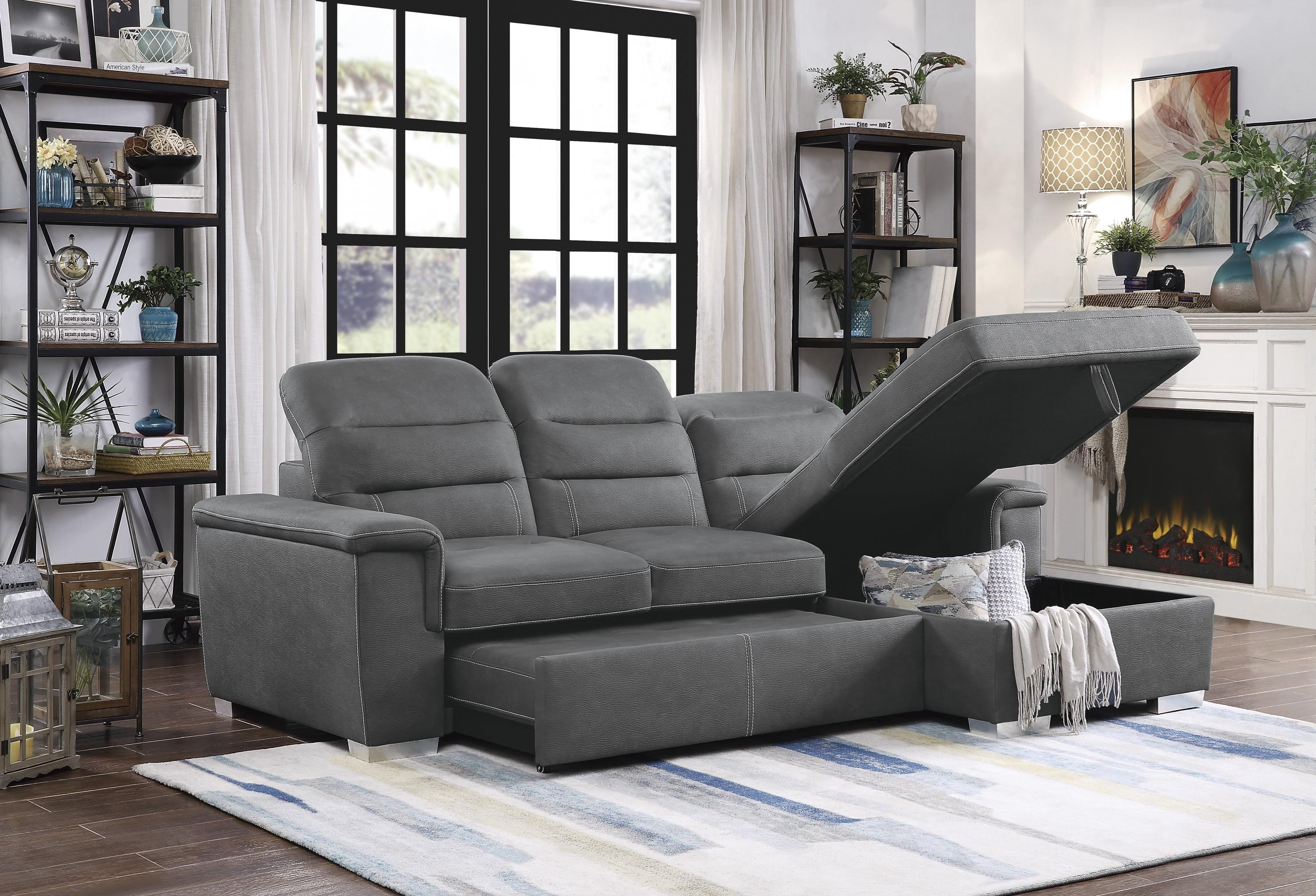 Alfio Sectional with Right Chaise by Homelegance at Beck's Furniture