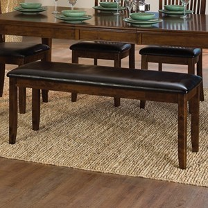 Transitional Dining Bench with Upholstered Seat