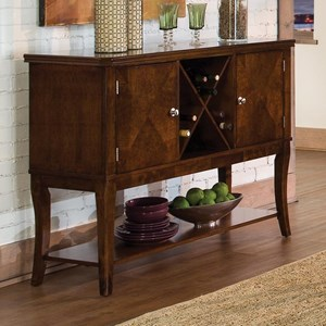 Transitional Dining Server with Wine Bottle Storage