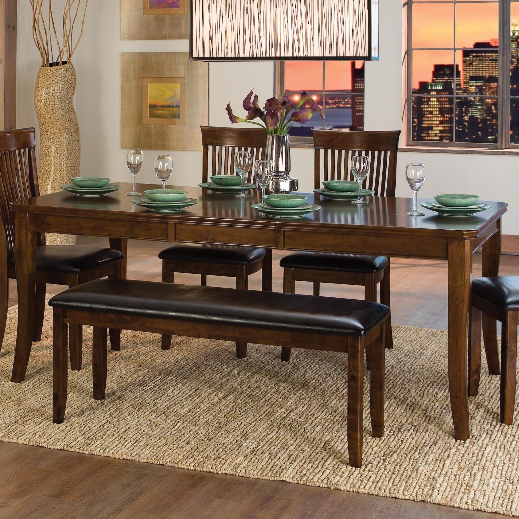 Alita Dining Table by Homelegance at Carolina Direct