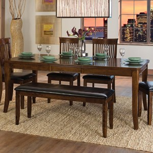"Transitional Dining Table with 18"" Leaf"