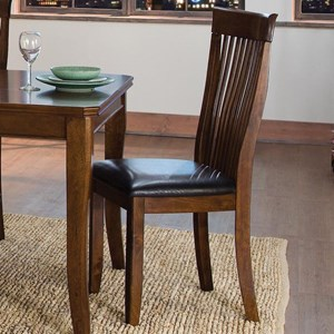 Transitional Dining Side Chair with Slat Back