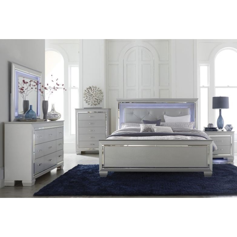 Allura Queen Bedroom Group by Homelegance at Carolina Direct