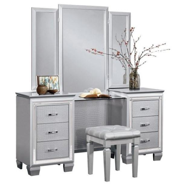Allura Vanity Dresser by Homelegance at Carolina Direct