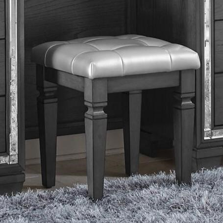 Allura Vanity Stool by Homelegance at Simply Home by Lindy's