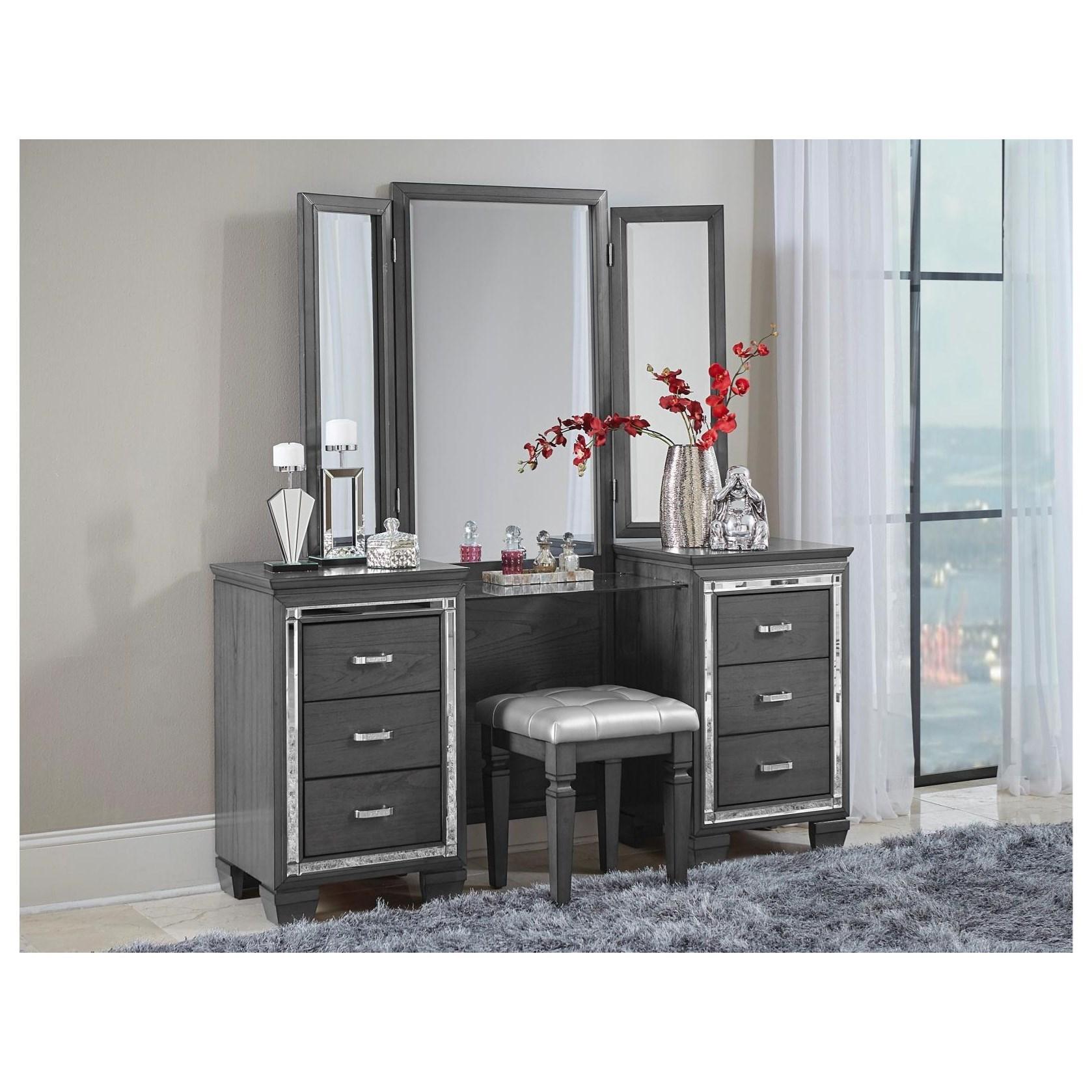 Allura Vanity Dresser by Homelegance at Value City Furniture