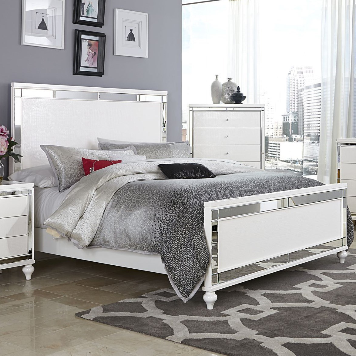 Alonza Queen Bed by Homelegance at Simply Home by Lindy's