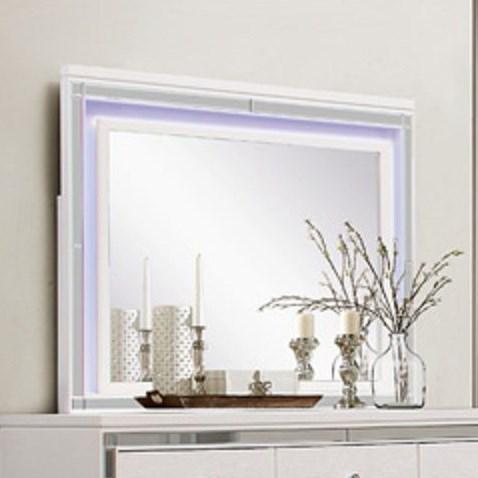 Alonza LED Lit Mirror by Homelegance at Beck's Furniture