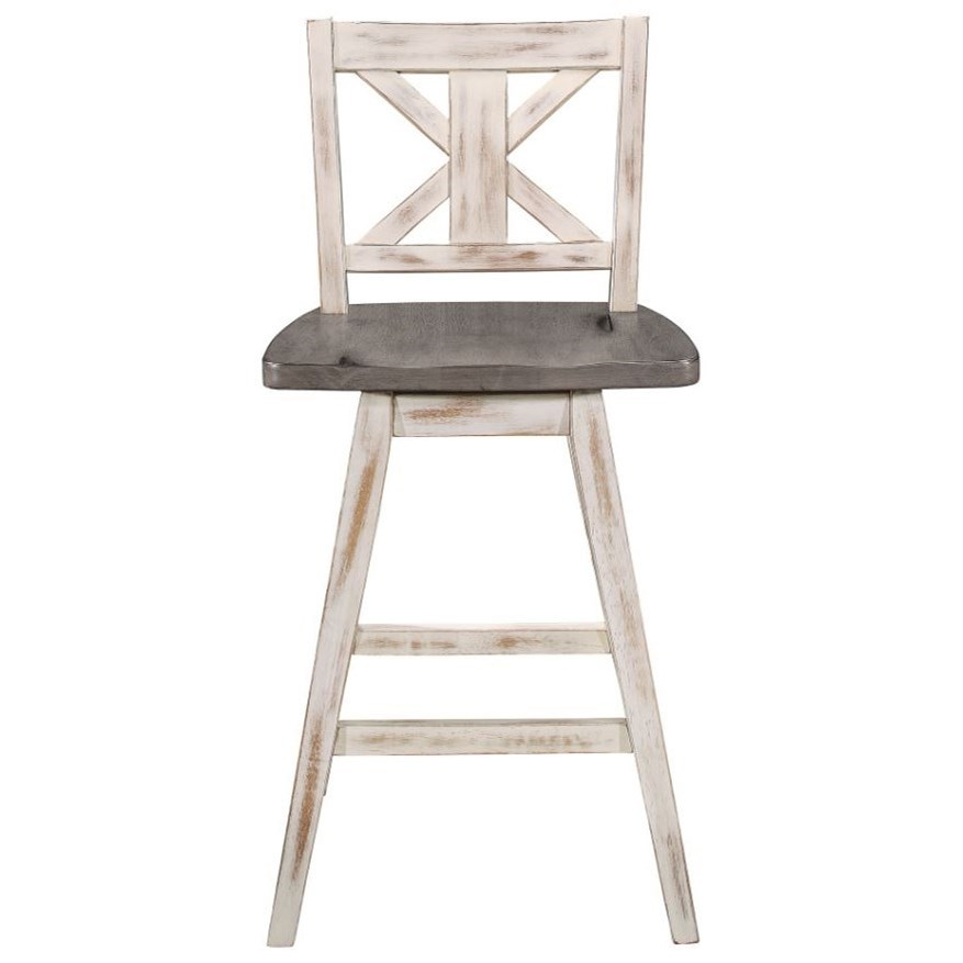 Amsonia Swivel Counter Height Chair by Homelegance at Rife's Home Furniture