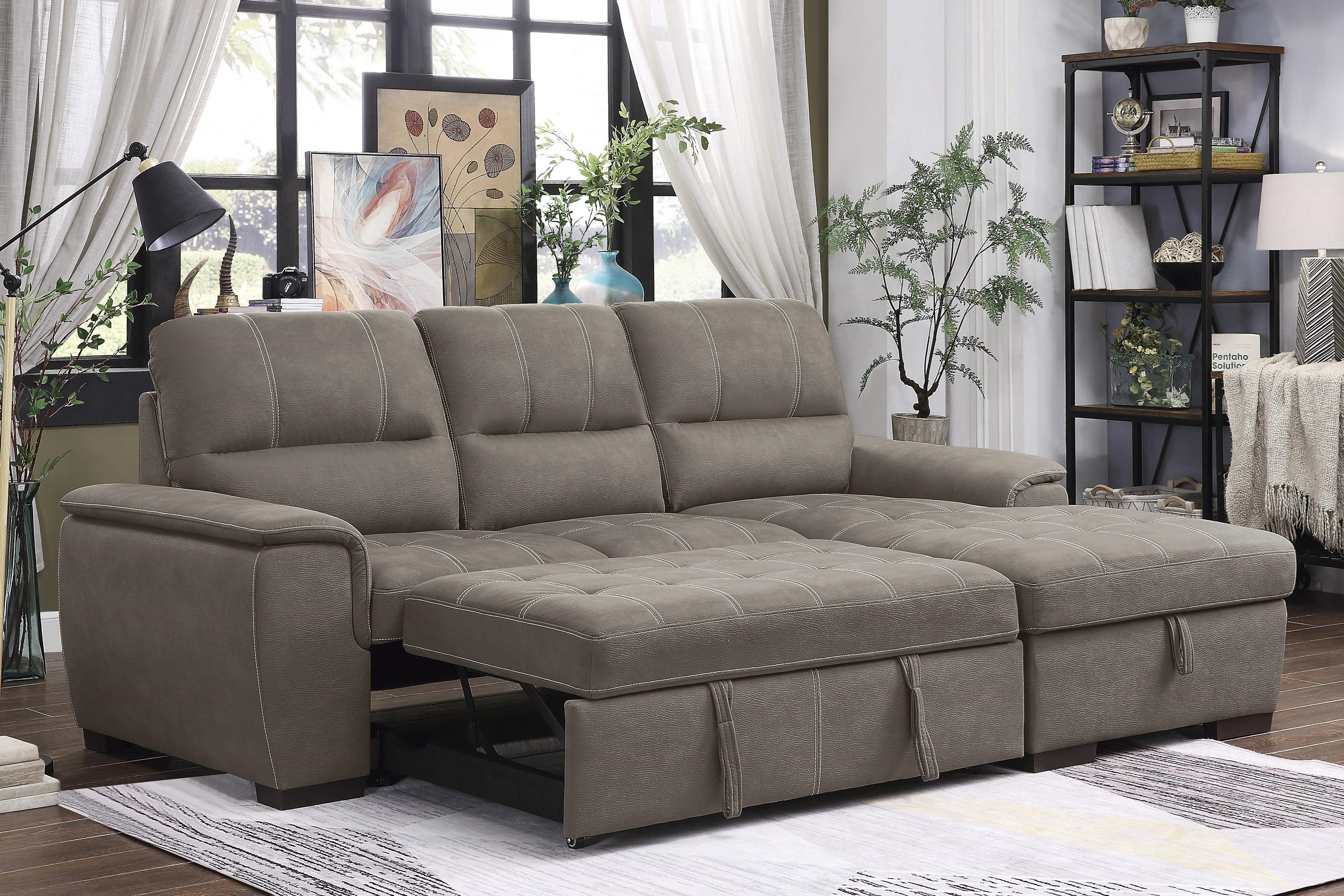 Andes Sectional with Right Chaise by Homelegance at Beck's Furniture
