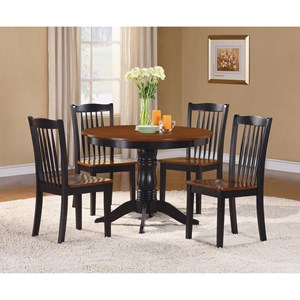 Cottage Table and Chair Set with 2-Tone Finish