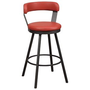 Industrial Pub Height Swivel Chair with Bi-Cast Vinyl Upholstery