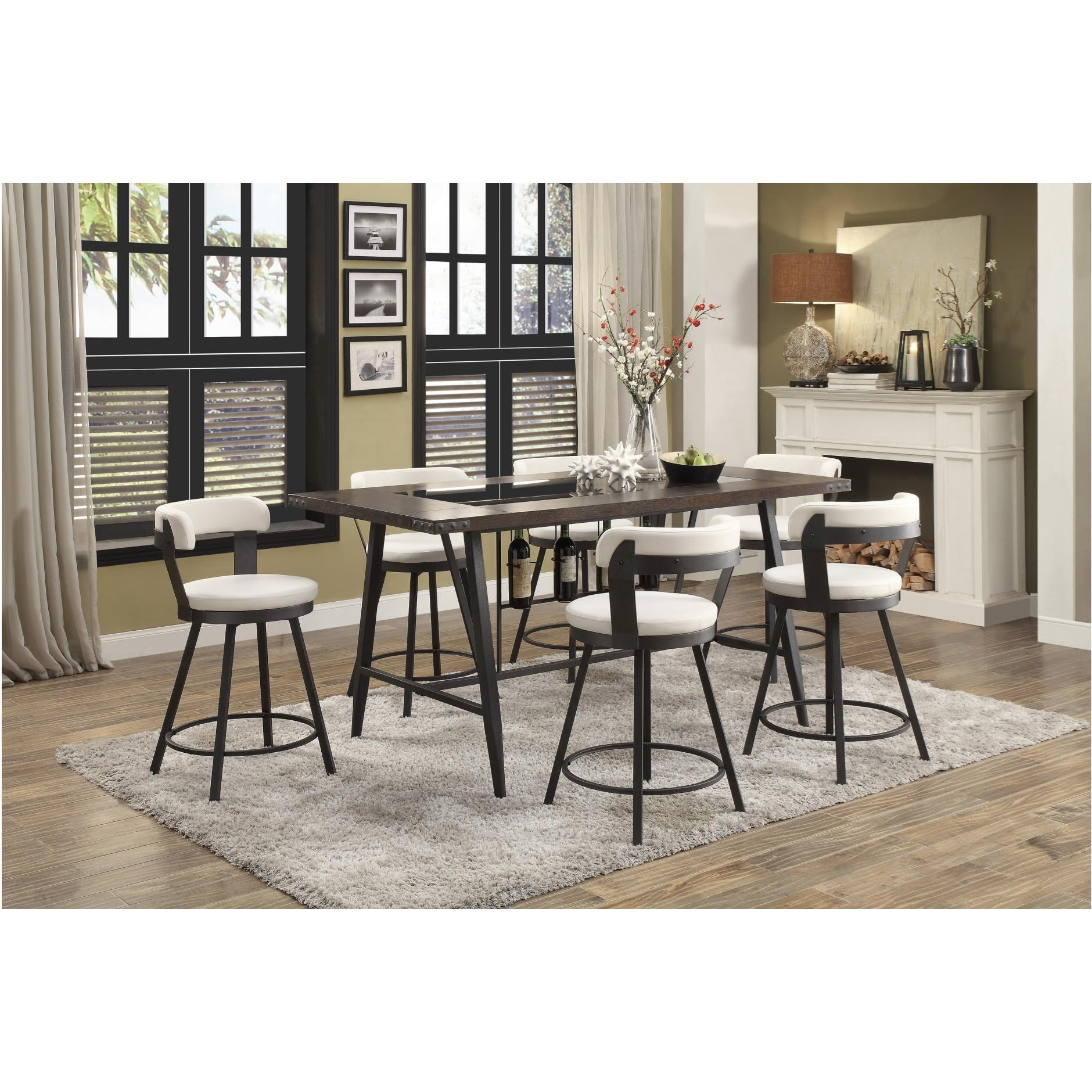 Appert 7 Piece Dining Set by Homelegance at Simply Home by Lindy's