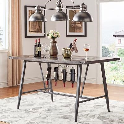 Appert Counter Height Table Top and Base by Homelegance at Simply Home by Lindy's