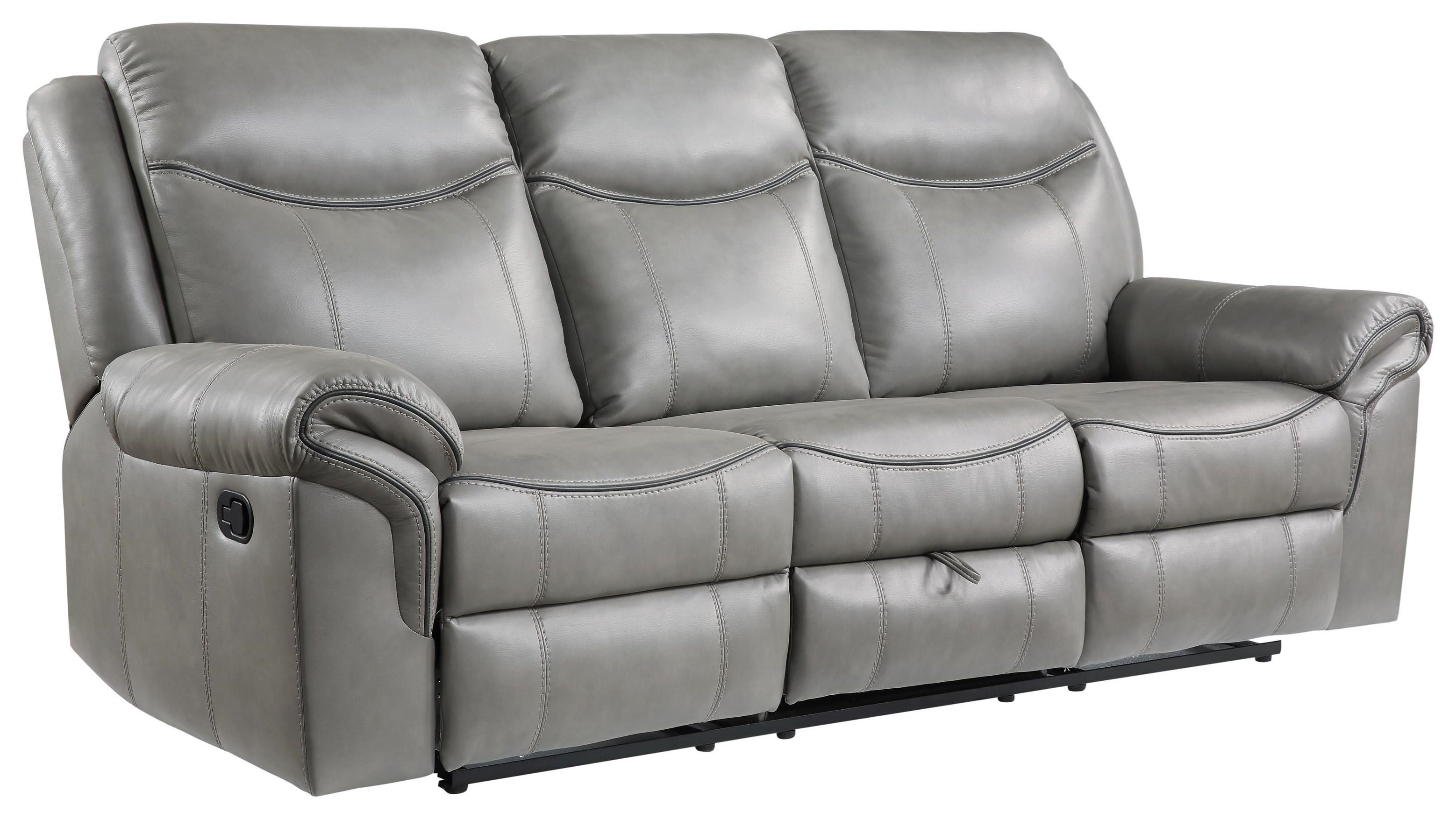 Aram Dual Reclining Sofa by Homelegance at Darvin Furniture