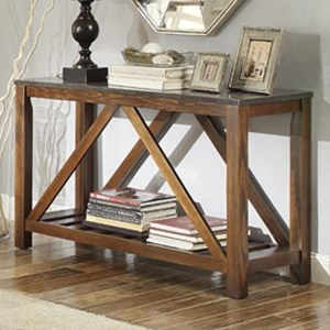 Mission Sofa Table with Bluestone Marble Top