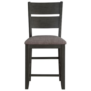 Transitional Slat-Back Counter Height Chair