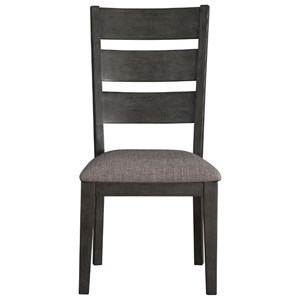 Transitional Slat-Back Side Chair