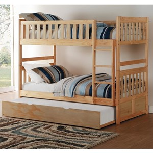 Twin-Over-Twin Bunk Bed with Trundle