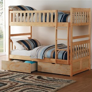 Twin-Over-Twin Bunk Bed with Storage