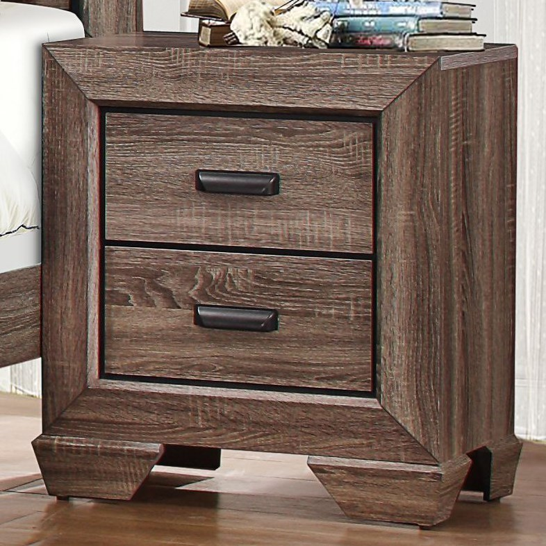 Beechnut Modern 2-Drawer Nightstand by Homelegance at Beck's Furniture