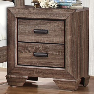 Contemporary 2-Drawer Nightstand with Dovetail Joinery