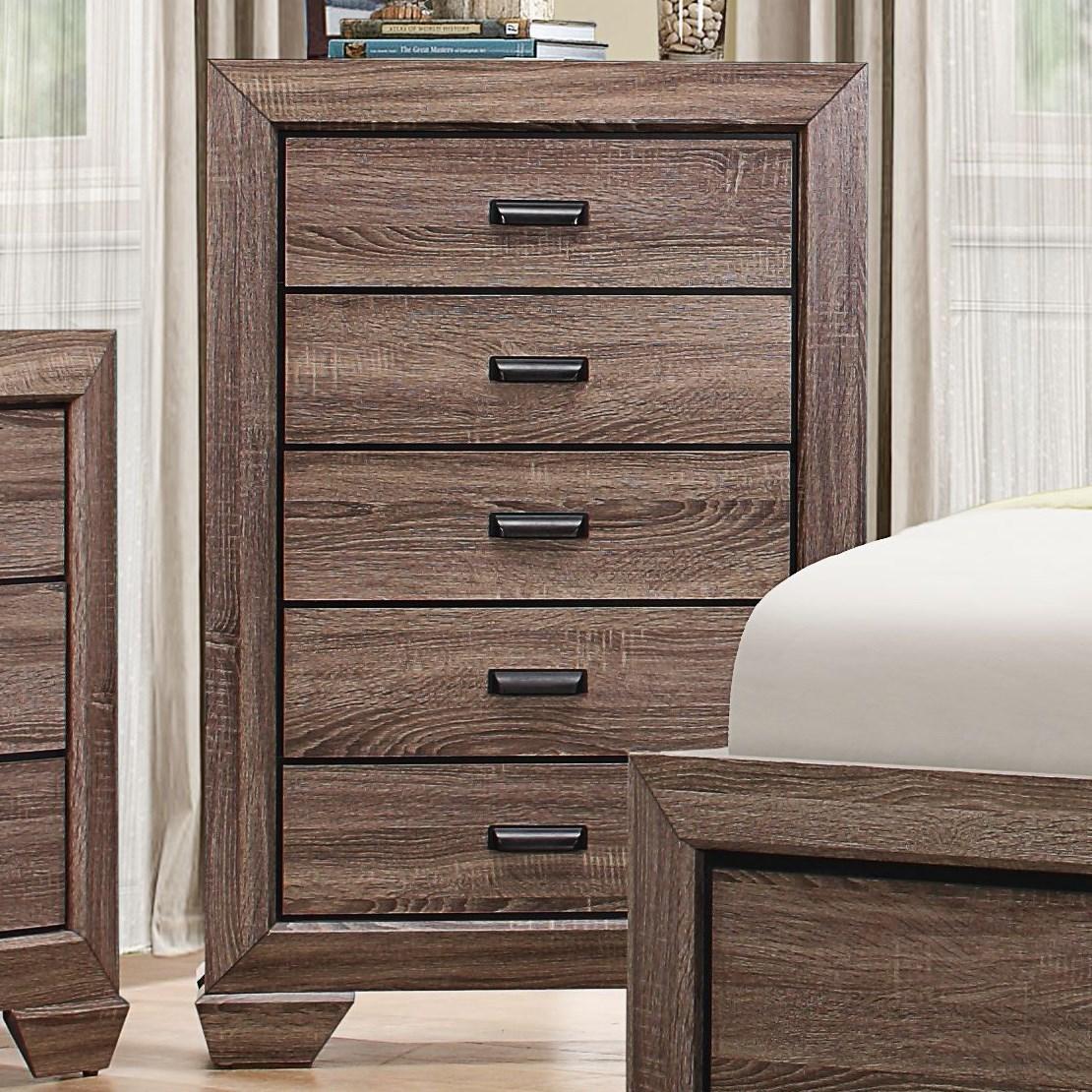 Beechnut Modern 5-Drawer Chest by Homelegance at Rife's Home Furniture
