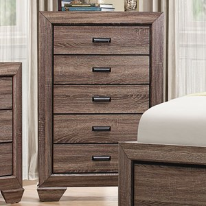 Contemporary 5-Drawer Chest with Dovetail Joinery