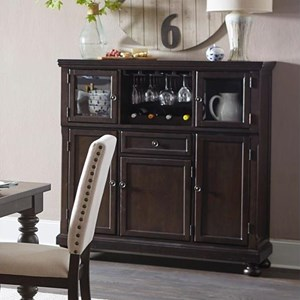 Transitional Curio with Wine Storage