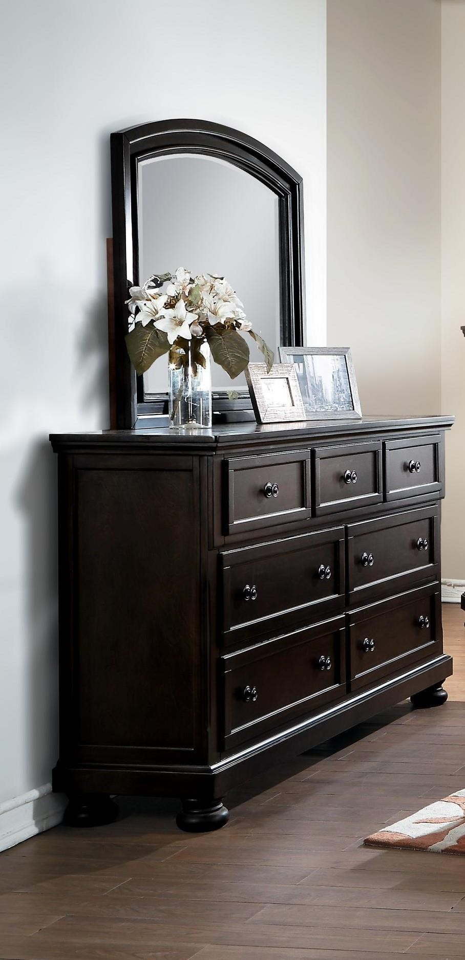Begonia Begonia Dresser and Mirror Set by Homelegance at Dream Home Interiors