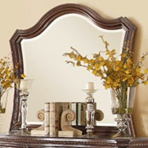 Traditional Mirror with Elegant Wood Moulding