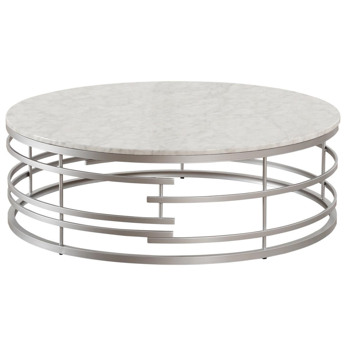 Brassica Large Round Cocktail Table by Homelegance at Darvin Furniture