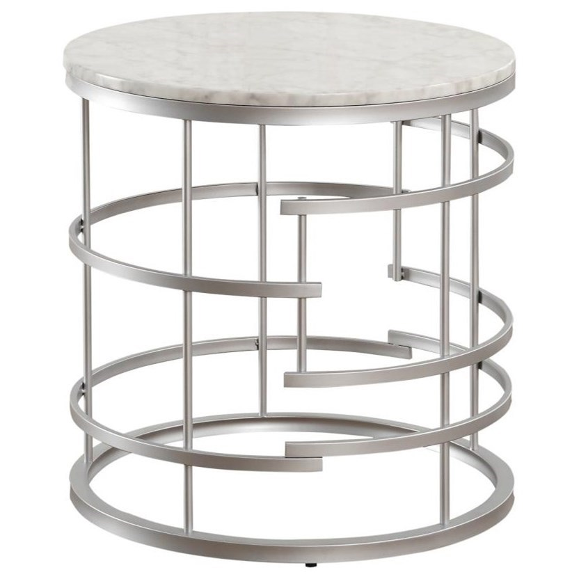 Brassica Round End Table by Homelegance at Darvin Furniture
