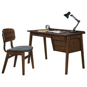 Contemporary 3-Drawer Writing Desk and Chair
