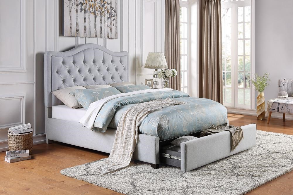 Carter Upholstered Beds King Upholstered Storage Bed by Home Style at Walker's Furniture
