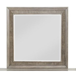Transitional Mirror with Sawtooth Molding