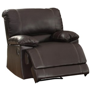 Reclining Chair with Pillow Arms