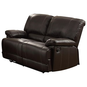 Double Reclining Love Seat with Pillow Arms