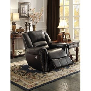 Traditional Gliding Recliner with Nailhead Trim