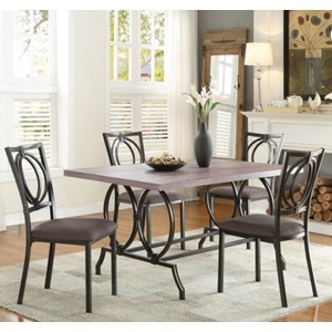 Casual Table and Chair Set with Open Design