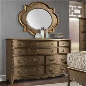 Dresser and Quatrefoil Mirror Set