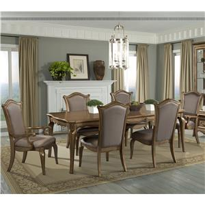 7 Piece Dining Set with Uphosltered Chairs