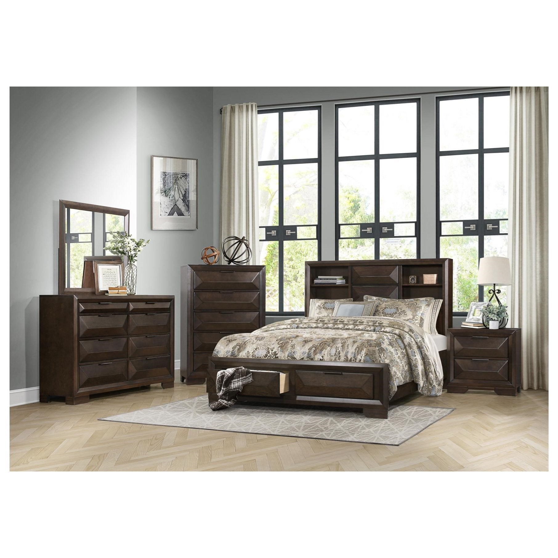 Chesky Queen Bedroom Group by Homelegance at Simply Home by Lindy's