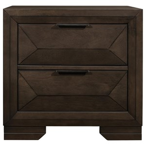 Contemporary Two Drawer Night Stand