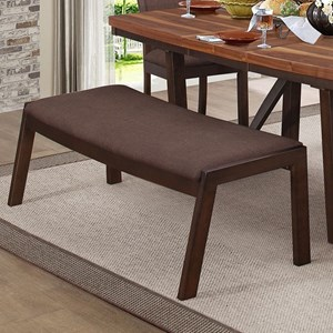 Contemporary Dining Bench with Upholstered Seat