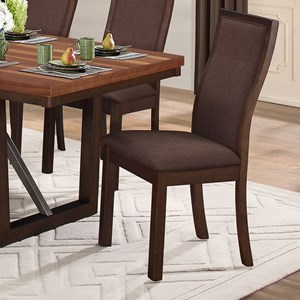 Contemporary Dining Side Chair with Upholstered Seat and Back