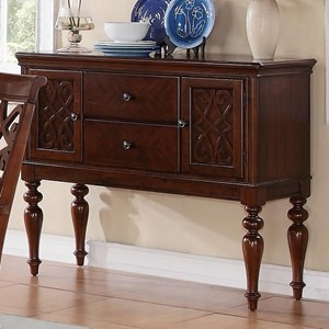 Traditional Dining Server with Turned Legs