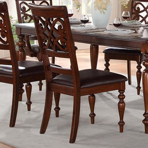 Traditional Dining Side Chair with Turned Legs