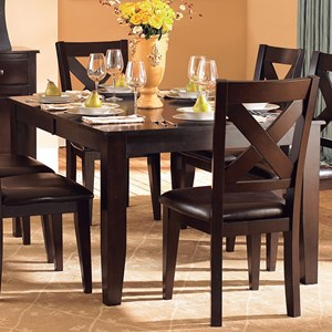 """Transitional Dining Table with 18"""" Butterfly Leaf"""