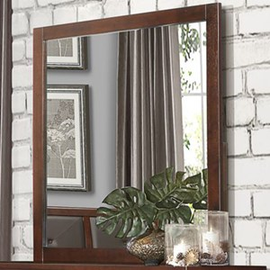 Contemporary Mirror with Wood Frame